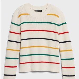 NWT Banana Republic Petite Striped Sweater
